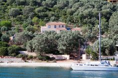 "≃ 60% DISCOUNT: 1900€ from July 7th to July 13th, 2013! Villa Sivota, Exclusive Villa on the Beach with 99"" Underground Cinema around sivota"