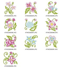 Flowers-Pure-Lace-CDS Embroidery Designs