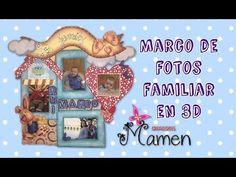 3ª Parte Como hacer un marco de fotos en 3D con Gomaeva - Foamy Creaciones Mamem - YouTube