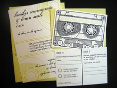 cute mixed tape #wedding invitations
