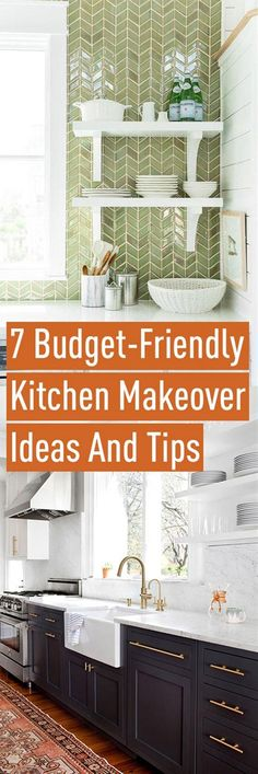 Think there is no such thing as a budget-friendly kitchen makeover? Remodeling your Kitchen doesn't have to cost a fortune. In fact with a little time and effort you can refresh your kitchen space. Add your personal touch and style with this collection of ideas and tips that will help you to focus on what really matters in updating your kitchen.