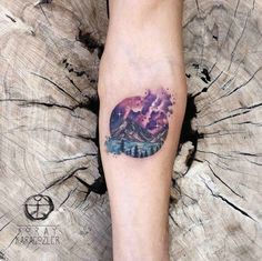 Circular space tattoo by Koray Karagozler
