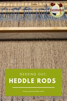 A heddle rod allows the weaver to pick-up multiple warp ends, but the rod/loop combo won't interfere with other pick-up stick/rods placed in the warp already. Inkle Loom, Loom Weaving, Hand Weaving, Weaving Textiles, Weaving Patterns, Weaving Process, Weaving Techniques, Cricket Loom, Peg Loom
