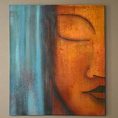 @Overstock - This stunning oil painting on canvas by Indonesian artisan Komang Suparta is truly a wonder. With talented use of color, detail and brush strokes, this piece of art shows a serene Buddha face that is sure to bring many complements. http://www.overstock.com/Worldstock-Fair-Trade/Small-Buddha-Face-Painting-Indonesia/5141550/product.html?CID=214117 $114.99