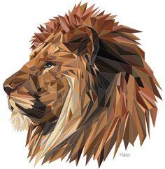 Lion by Niels Vermeulen, via Behance
