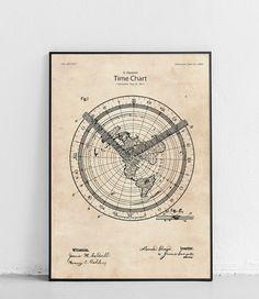 Plakat z reprodukcją patentu nowej mapy świata, która do dziś pozostaje jedną z najbardziej dokładnych map płaskiej ziemi jakie kiedykolwiek stwarzono, autorstwa Alexandra Gleason.  Patent nr US497917A został opublikowany w 1893 roku przez Urząd Patentów i Znaków Towarowych Stanów Zjednoczonych. 3d Pen, Vintage World Maps, Chart, Poster, Billboard