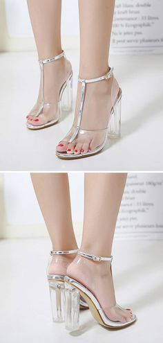 7a193c415467 Summer Open Toed High Heels Chunky Sandals Shoes. Vist corachic