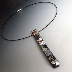 Necklace | Francesca Vitali.  Recycled paper.