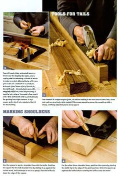 #1554 Large Dovetail Joints - Joinery
