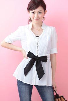 Ribbon Shirt   Cherry Ann Online Shop Cherry Ann, Ribbon Shirt, Tunic Tops, Blouses, Long Sleeve, Sleeves, Shirts, Shopping, Women
