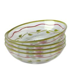 Pfaltzgraff Napoli Glass Salad Bowls, Set of 4 by Pfaltzgraff. $27.67. Soft palette of pale orange, yellow, rose, varying shades of blue and light green. Glass Salad Bowls, Set of 4. Glass - General. Napoli is a subtly decorated, hand-painted collection that evokes the light and colors of the coast of Italy. The soft palette of pale orange, yellow, rose, varying shades of blue and light green creates a bright, cheerful setting for any meal. The advent of spring heralds ...