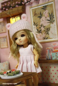 Claire at *Cherry Blosson* diorama by Keera, via Flickr