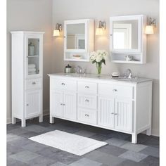 home decorators collection charleston vanity charleston 72 quot gray sink vanity by mission 12804