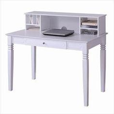 nebraska furniture mart u2013 walker edison writing desk and hutch in white