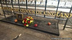Tomb of Catalina de Aragón (Katherine of Aragon). Peterborough Cathedral. Cambridgeshire, UK.