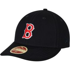 Boston Red Sox New Era Cooperstown Collection Vintage Fit 59FIFTY Fitted Hat - Navy