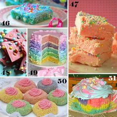 51 Easter Sweets with Tutorials including these pretty pastel treats!