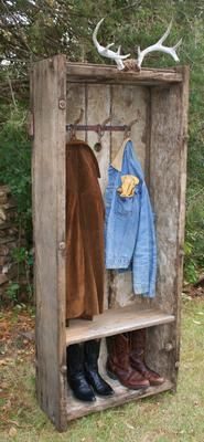 Mudroom locker? Retail display? Made from an old tractor rock box.