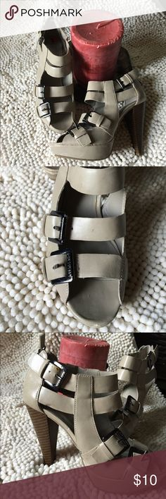G by Guess shoes Taupe G by Guess Strap Shores size 6 m.   Love these shoes....,They go from the office to a night out. G by Guess Shoes Heels