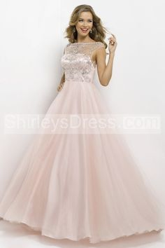 Gorgeous Illusion Beaded Neckline Satin Bodice Tulle Skirt With Open Back