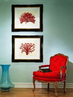 soothing colors for living rooms | Color Scheme: Turquoise and Red | ECLECTIC LIVING HOME  Clean. Simple. Elegant.