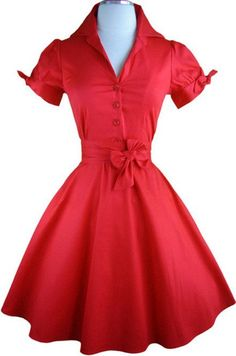 tie sleeve lucy day dress - red