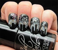 112 Best New Years Nail Designs Images On Pinterest Nail Bling