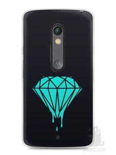 Capa Capinha Moto X Play Diamante Azul
