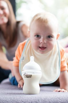 Milk's up, come and get it! #Baby #CuteBaby #Love #TommeeTippee #BabyBottles