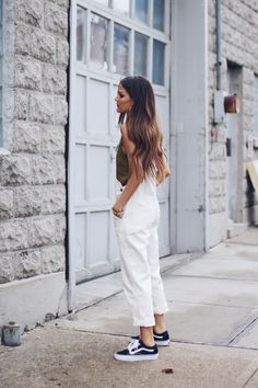 urban outfitters white denim overalls