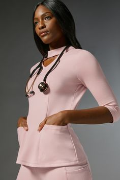 Ponte Collection Scrubs: Stretch Within Reach Spa Uniform, Scrubs Uniform, Scrubs Outfit, Beauty Uniforms, Stylish Scrubs, Beautiful Nurse, Casual Weekend Outfit, Medical Scrubs, Nursing Clothes