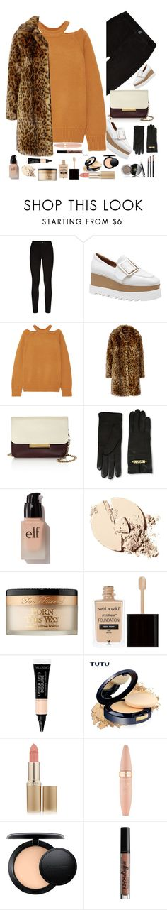 """""""Untitled #280"""" by shahystyle ❤ liked on Polyvore featuring Paige Denim, Jason Wu, J.Crew, Moschino, e.l.f., Too Faced Cosmetics, Wet n Wild, L'Oréal Paris, Maybelline and MAC Cosmetics"""
