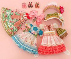 … Tiny Dolls, Ooak Dolls, Cute Dolls, Blythe Dolls, Barbie Clothes, Diy Clothes, Estilo Retro, Mini Things, Fabric Dolls