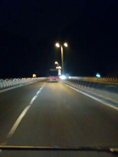 Random click #running #car #lights #late #night #highway #truck #onway #110kmpl #photography