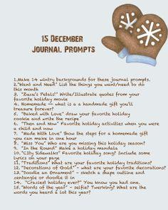 Quinceberry: December Journal Prompts