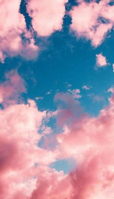 Pink Clouds Wallpaper, Night Sky Wallpaper, Pink Wallpaper Iphone, Cute Wallpaper Backgrounds, Cute Wallpapers, Cool Backgrounds For Iphone, Interesting Wallpapers, Tumblr Backgrounds, Girl Wallpaper
