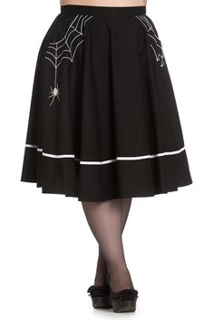 Hell Bunny Gothic White//Black 50s Skirt BATS Halloween Vampire All Sizes