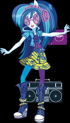 DJ PON-3 | MLP: Equestria Girls Rainbow Rocks. Always chill and ready to rock, DJ Pon-3 spins the hits Canterlot High loves to hear. When she drives up in her so-cool convertible wearing her signature shades, she commands attention without even saying a word.