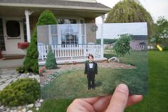 I need to do this with my boys now by our house so I can see this comparison later- Very cool!
