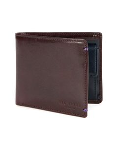 PROVOLS | Bright inner biold coin wallet - Chocolate | Wallets | Ted Baker