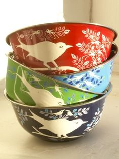 I love these Bird bowls!  Great to use around the house to contain little things.