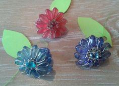 Beaded flower rings each. Flower Rings, Jewellery, Floral, Flowers, Jewels, Schmuck, Royal Icing Flowers, Flower, Flower