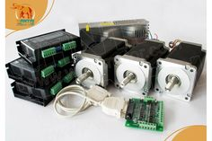 CNC Router kits 3Axis Nema 34 Stepper Motor 1600oz,3.5A Wantai CNC Router & Mill-Stepper Motor