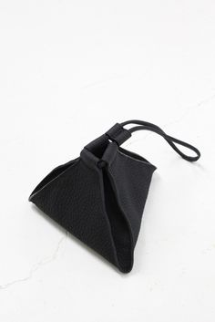 AANDD Pyramid Pouch Black Leather