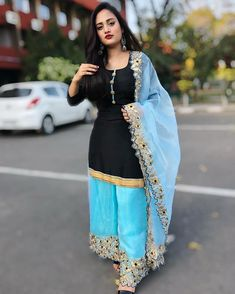 Image may contain: 1 person, standing Indian Actress Pics, Most Beautiful Indian Actress, Punjabi Dress, Punjabi Suits, Salwar Suits, Lovely Dresses, Stylish Dresses, Suit Fashion, Fashion Pants