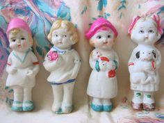 Vintage 20's Bisque Dolls