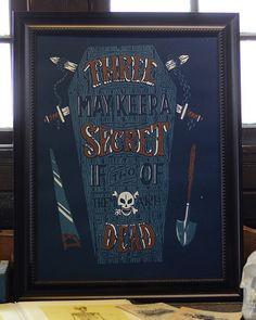 """Three May Keep A Secret"" Art Print by Jason Carne"