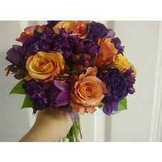 plum, green, orange wedding color theme