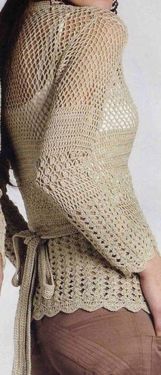 Chaleco cruzadoCROCHET AND KNIT INSPIRATION: http://pinterest.com/gigibrazil/crochet-and-knitting-lovers/
