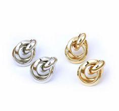 #earrings #studearrings #minimalistjewelry #minimalist #gold #silver #jewelry #jewelrydesign #jewelryaccessories #jewellery #jewelleryonline #trendy #cute #classic #elegant #knots Minimalist Earrings, Minimalist Jewelry, Cute Stud Earrings, Jewelry Accessories, Jewelry Design, Silver Color, Knots, Heart Ring, Studs